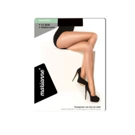 MARIANNE PANTY - met ladderstop - 15 DEN - zwart
