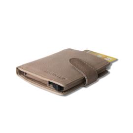 aluminium cardprotector - MINI WALLET - LEER - FIGURETTA - Lever