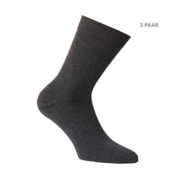 Katoenen sokken - APOLLO CASUAL - badstofzool -3 PAAR - Antraciet