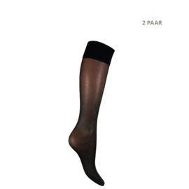 PANTY | KNIEKOUS 2 paar | 20 den, zwart
