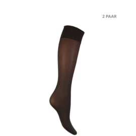 Panty kniekousen - 40 DEN - MOUSSE - 2 PAAR - fumo