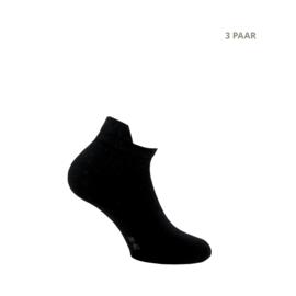 Katoenen sokken - SNEAKER - 3 PAAR - zwart