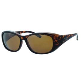 Overzet zonnebril - REVEX - L - bruin havanna