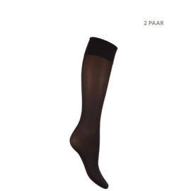 Panty kniekousen - 40 DEN - MOUSSE - 2 PAAR - grafiet