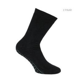 Katoenen sokken - YOGA ANTISLIP - 2 PAAR - Zwart