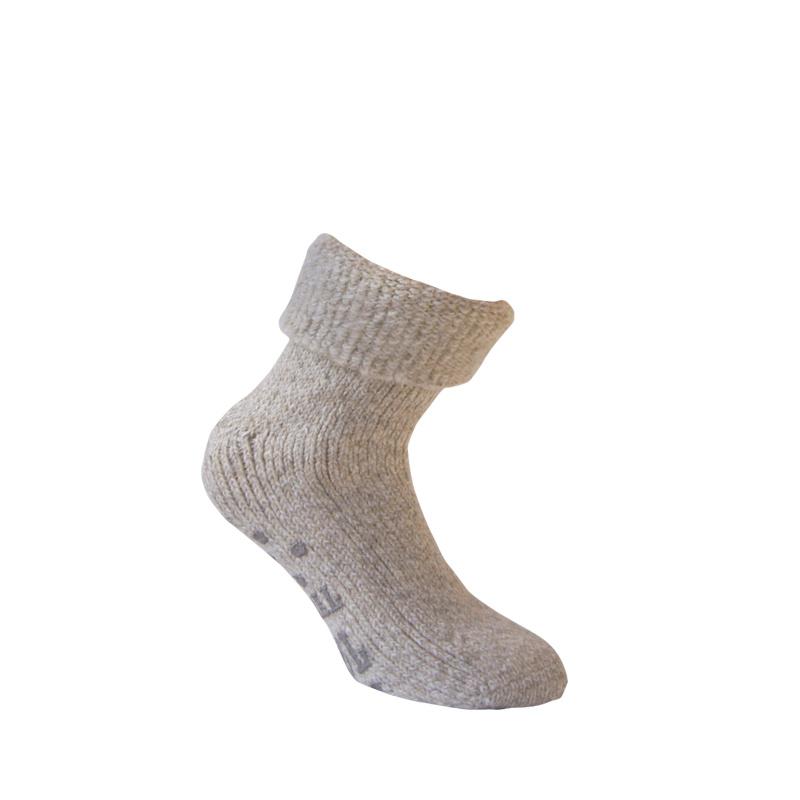 Wollen sokken - HOME - ANTI SLIP - Beige