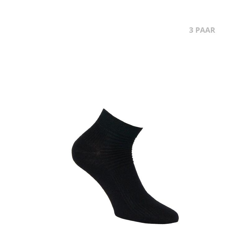 Katoenen sokken - BIKER - 3 PAAR - zwart