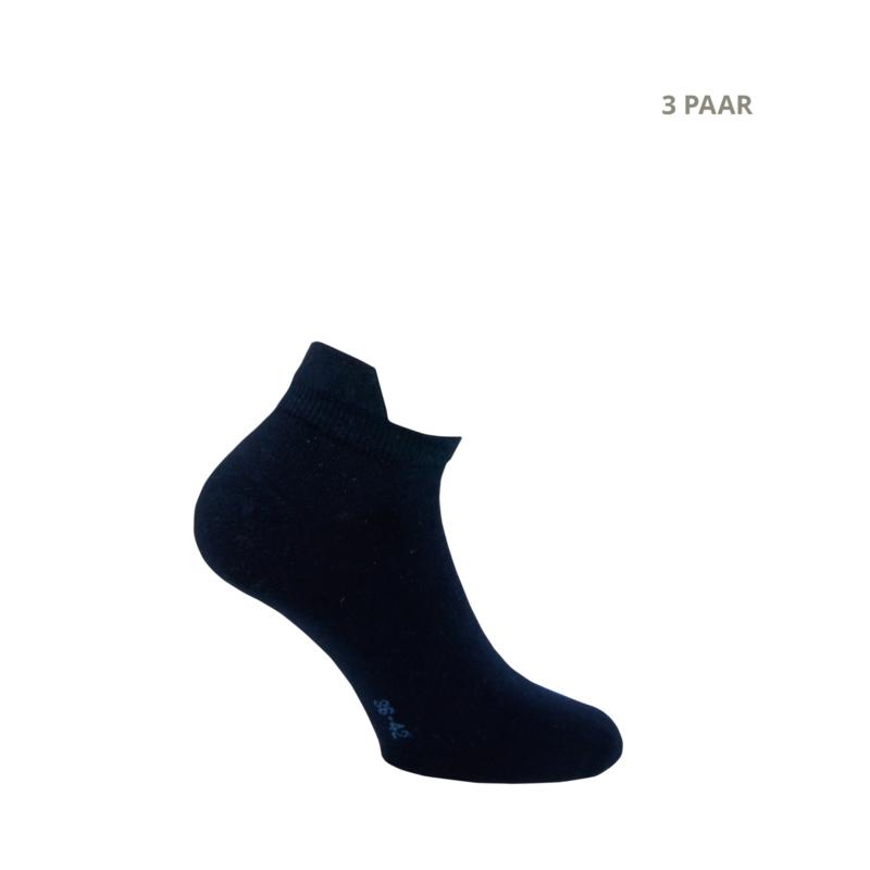 Katoenen sokken - SNEAKER - 3 PAAR - marine
