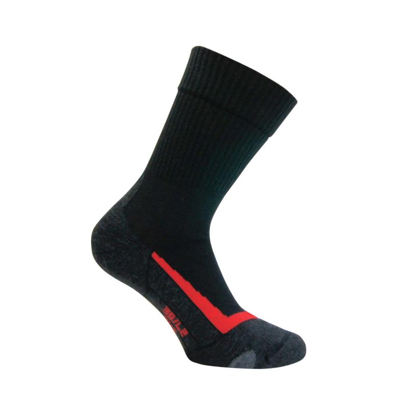 Merino wollen sokken - TREKKING - zwart