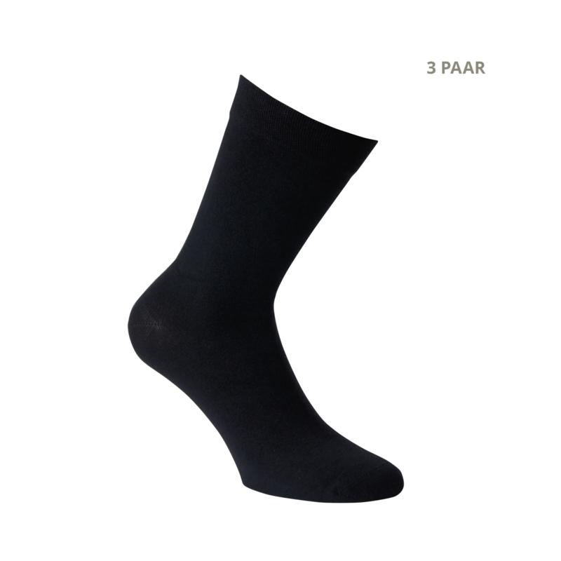 Bamboe sokken - CITY - 3 PAAR - zwart