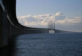 Ticket voor de Oresundbrug, de brug tussen Denemarken en Zweden