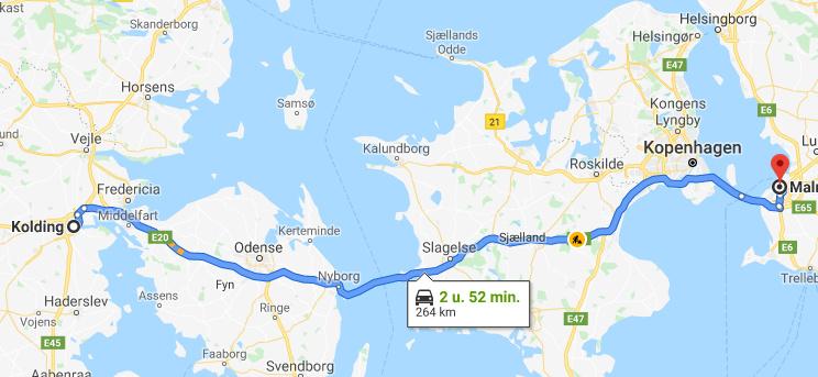 Combiticket voor de bruggen van Denemarken naar Zweden