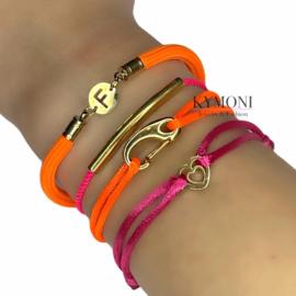 Set oranje / roze