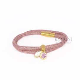 Dani glitter roze (goud of zilver)