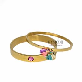 Bangle gold pink