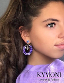 So sweet purple earrings
