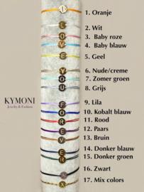 Kaylee  initialen armband goud of zilver