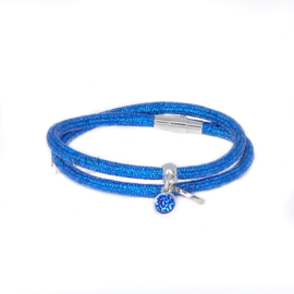 Dani glitter blauw (goud of zilver)