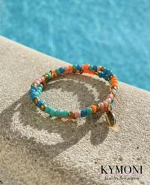 Mily oranje /turquoise