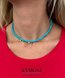 Mell turquoise ketting