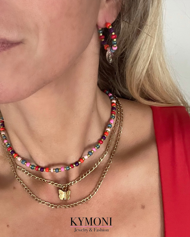 Double gold ketting + Mily set