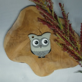 Owl Little Light Grey