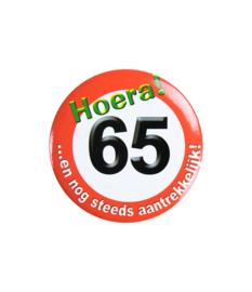 Button klein - 65 jr verkeersbord