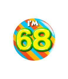 Button klein - i'm 68