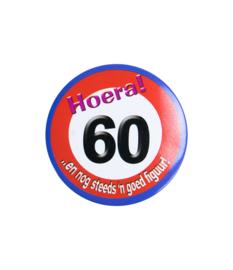 Button klein - 60 jr verkeersbord