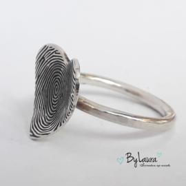 Voor altijd in het hart | Ring met vingerafdruk