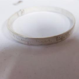 Handschrift op zilver