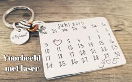 Kalender sleutelhanger - 2 stuks