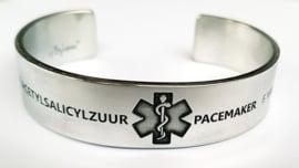 Medische informatie armband | Aluminium, koper of messing