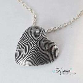 Voor altijd in het hart | Hanger met vingerafdruk