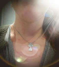Hanger van een kindertekening, zilver .925