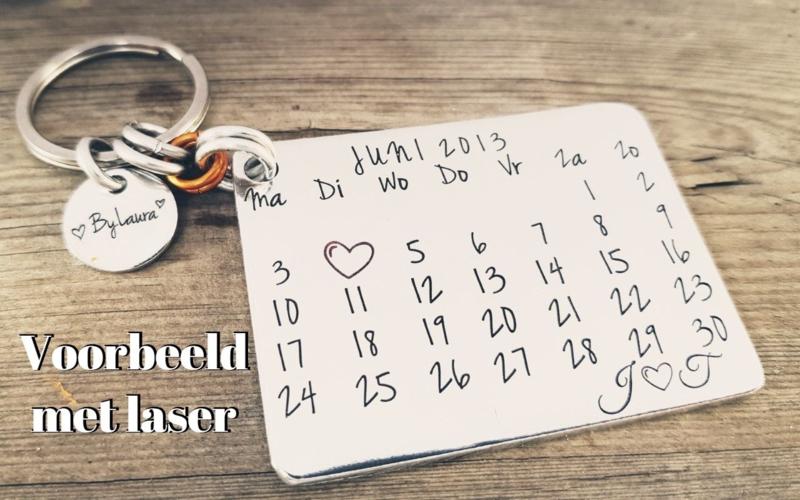 Kalender sleutelhanger - 1 stuk