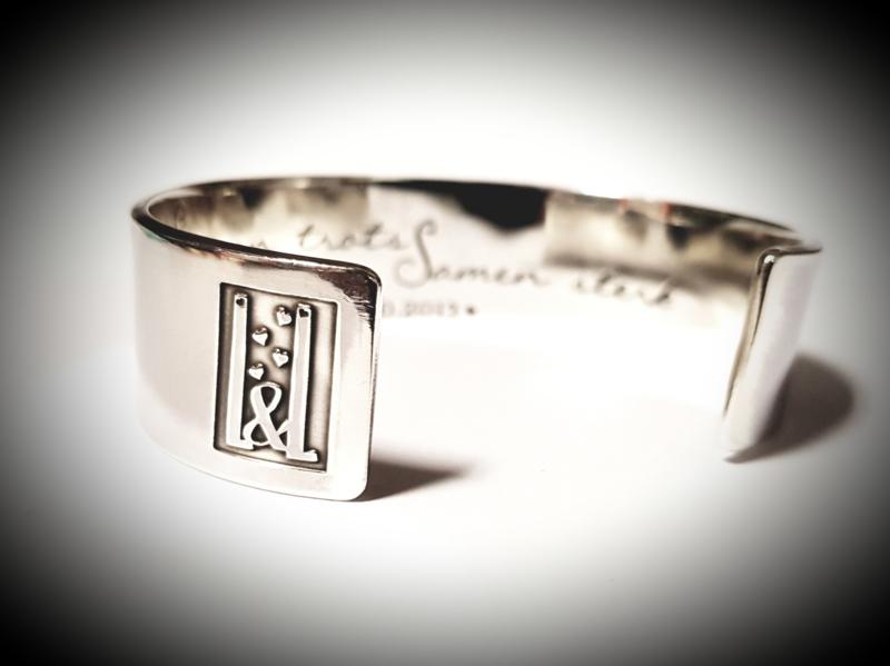 Herenarmband zilver