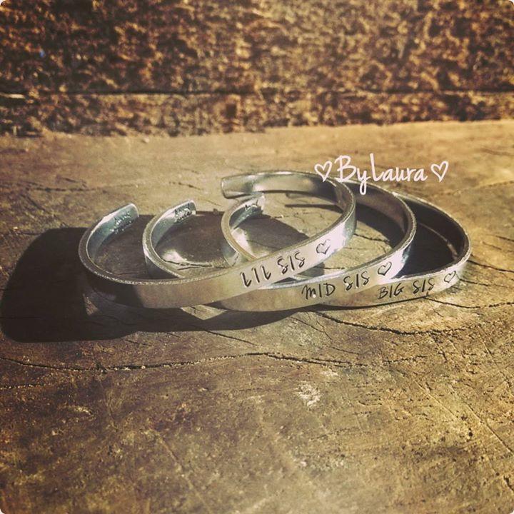 Tekstarmband voor lieve zussen