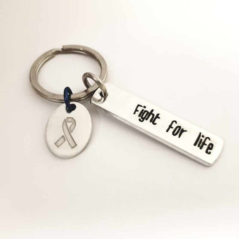 Fight for life - sleutelhanger/tashanger