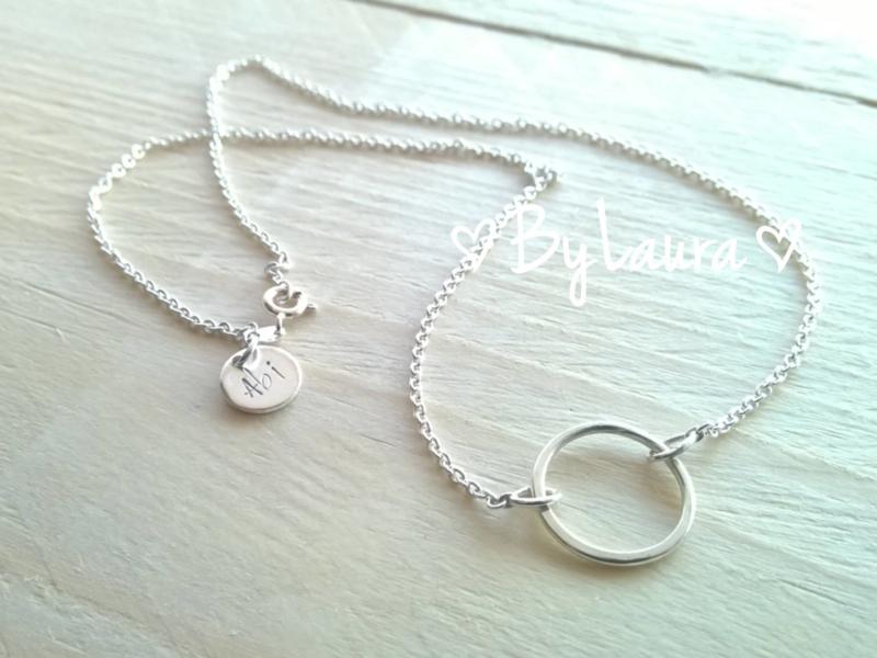 "Zilveren .925 ketting ""Circle of Love"""