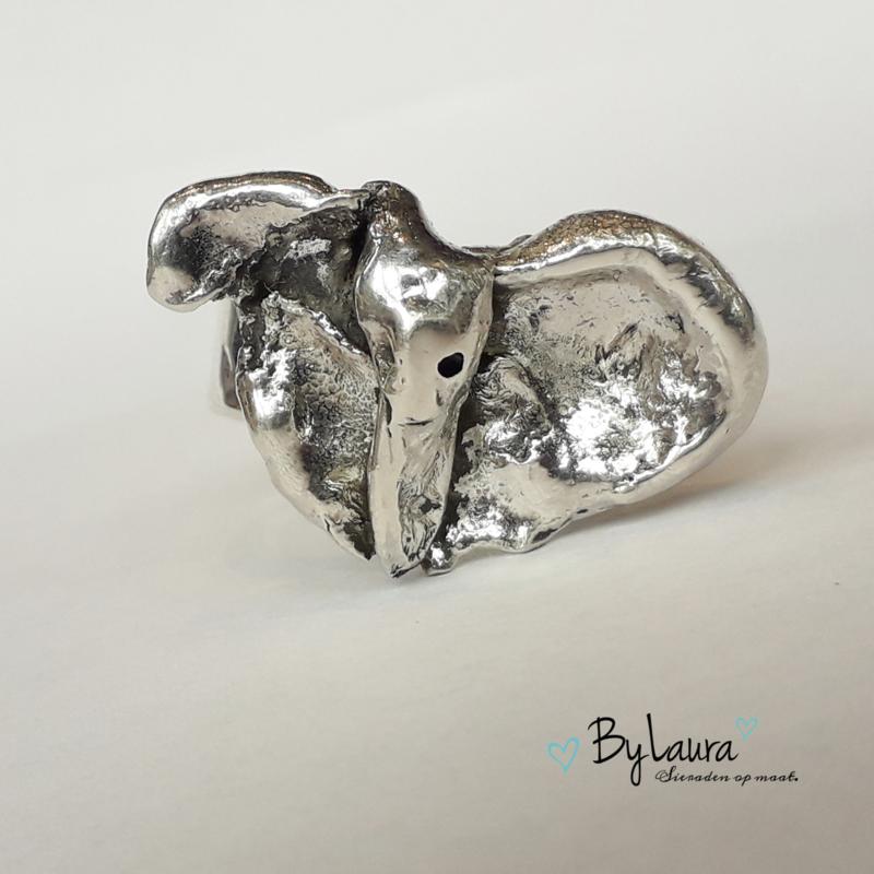 Zilveren ring Olifant | ringmaat 18