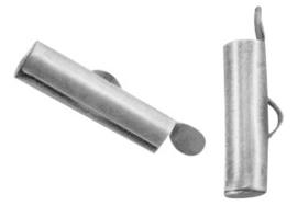 DQ Metaal schuif eindkap 15,5x6mm