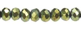 Rondelles 2x3mm Metallic Green 32731