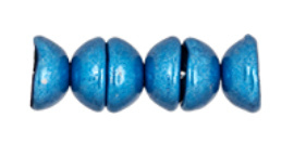 Tea Cup Beads 06B03- Saturated Metallic Nebulas Blue