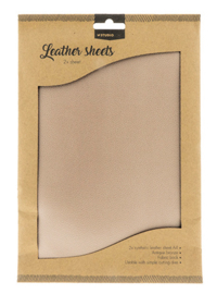 Beige Synthetic Leather Sheet 01