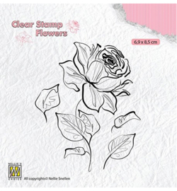 Stamp Rose - fl0017