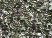 Half Tila Bead- 4574 Crystal Vitrail Light