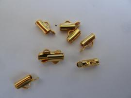 Tube sluiting 7mm goudkleur