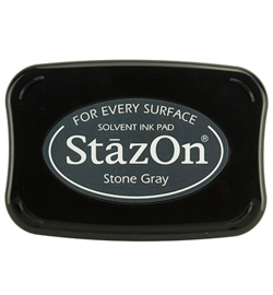 Stazon stempel inkt- Stone Gray