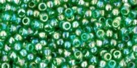 Toho 11-167B  Transparant Rainbow gras Green
